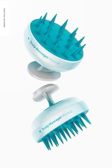 Maqueta de masajeadores de cuero cabelludo, flotante