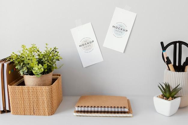 Maqueta de material de papelería de material natural