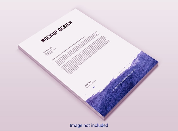 Maqueta de membrete de páginas a4