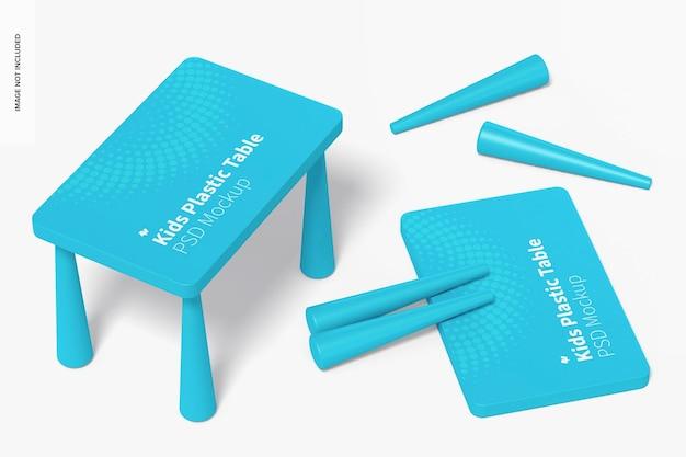Maqueta de mesa de plástico para niños, vista superior