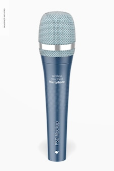 Maqueta de micrófono de mano inalámbrico