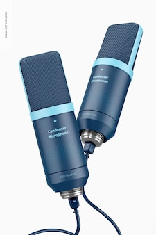 Maqueta de micrófonos de condensador, flotante