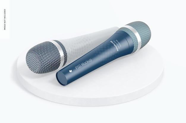 Maqueta de micrófonos de mano inalámbricos