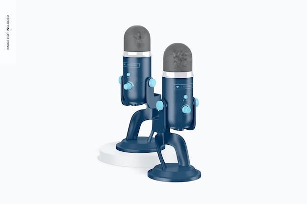 Maqueta de micrófonos de transmisión