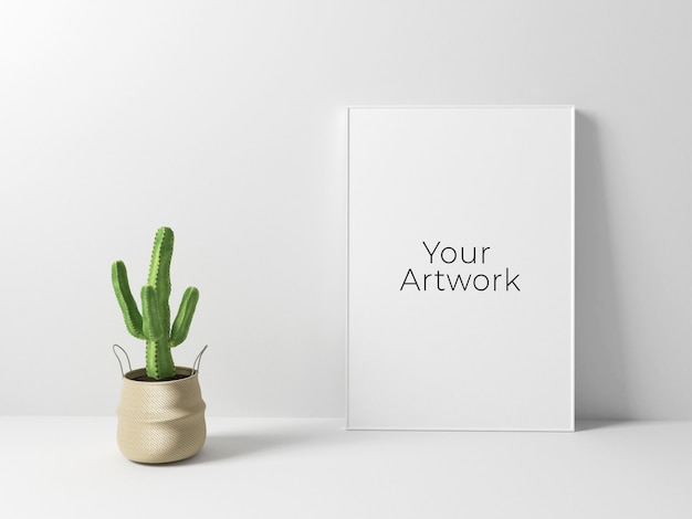 Maqueta mínima de marco de póster