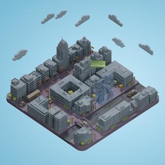 Maqueta de modelo de miniaturas de ciudades