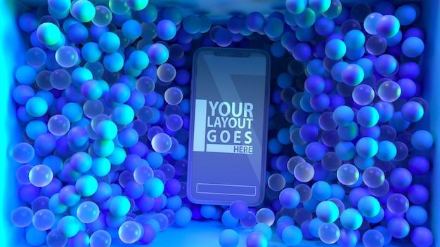 Maqueta moderna y divertida de teléfonos inteligentes