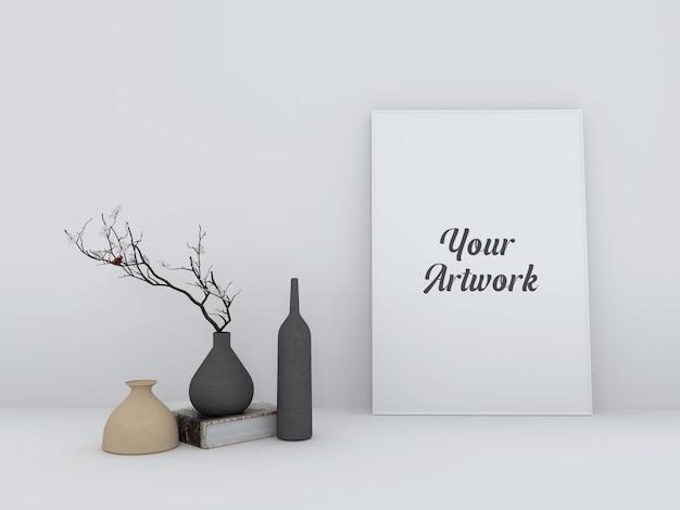 Maqueta moderna del marco del cartel