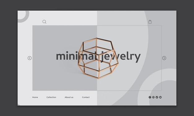 Maqueta moderna de página web