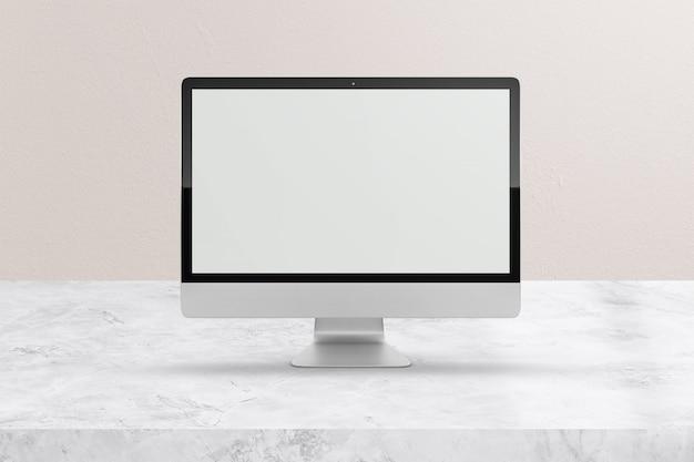 Maqueta moderna de pantalla de computadora de escritorio