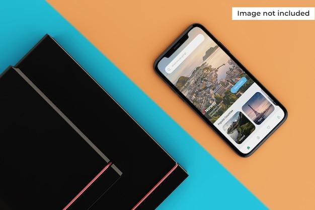 Maqueta moderna de pantalla de dispositivo móvil