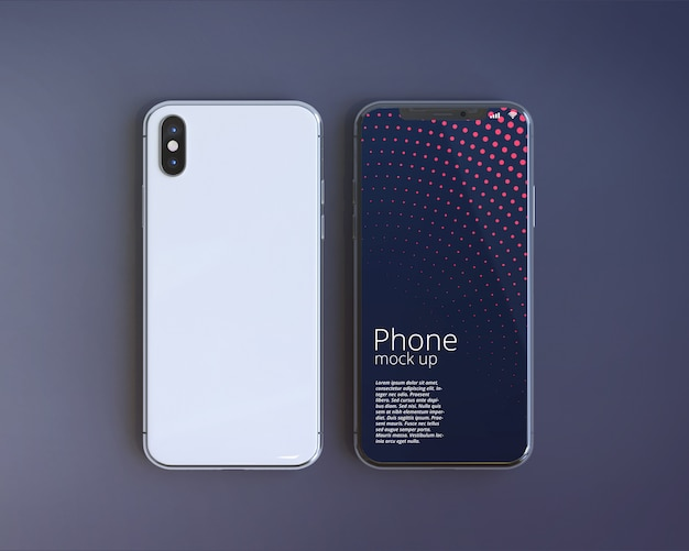 Maqueta moderna de la pantalla de smartphone
