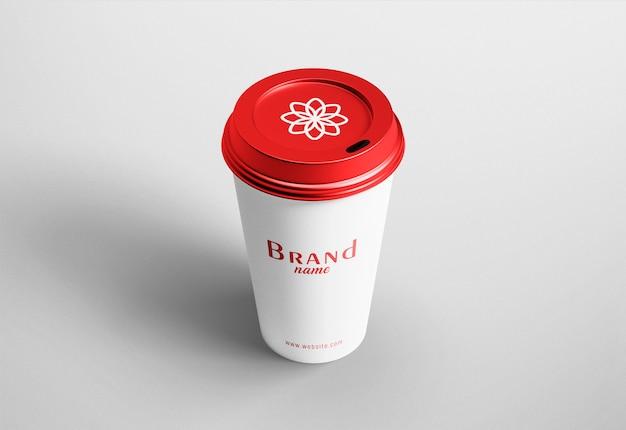 Maqueta moderna de papel de taza de café
