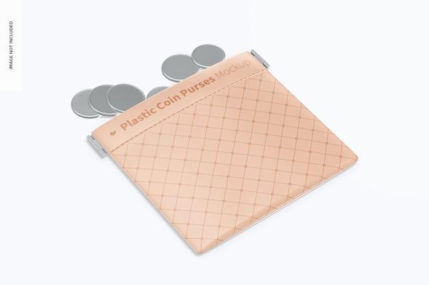 Maqueta de monedero de plástico