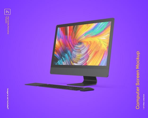 Maqueta de monitor de computadora