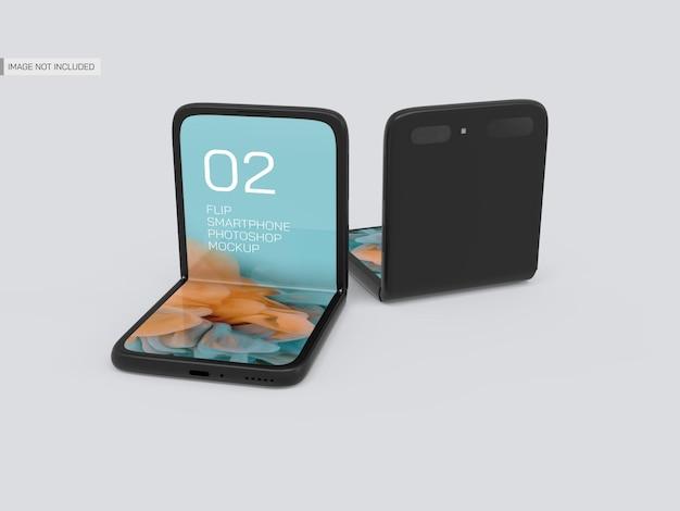 Maqueta de móviles flip