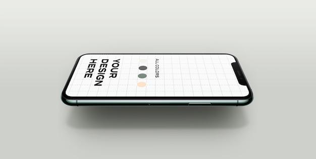 Maqueta de nuevo teléfono inteligente flotando