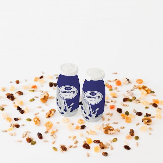 Maqueta de packaging de leche