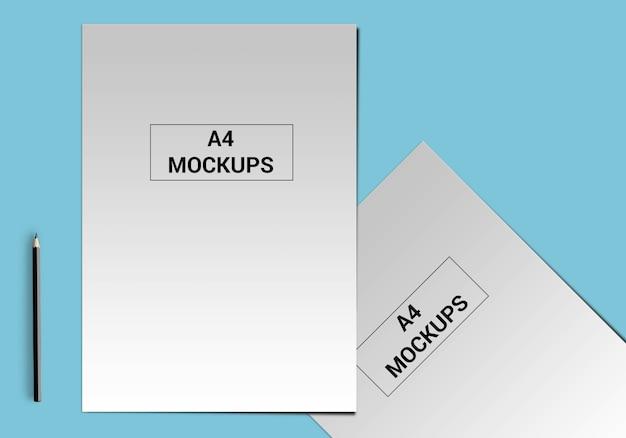 Maqueta de página a4 para volante, factura, membrete y otros
