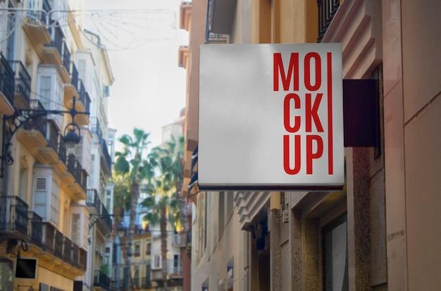 Maqueta de panel de publicidad callejera