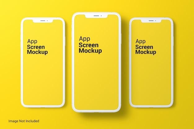Maqueta de pantalla de la aplicación