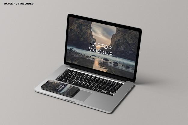 Maqueta de pantalla de dispositivo digital portátil