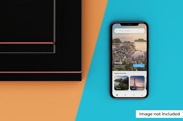 Maqueta de pantalla de dispositivo móvil personalizable