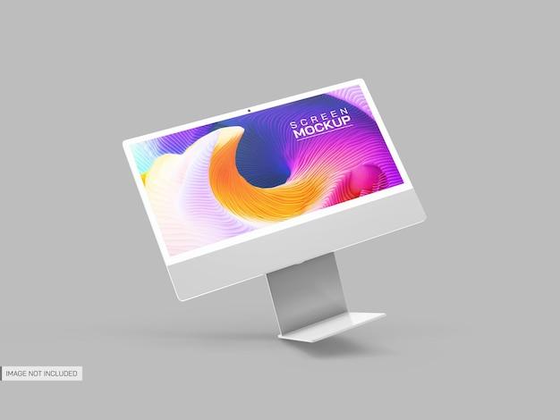 Maqueta de pantalla de escritorio aislada