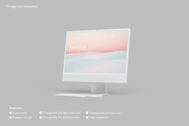 Maqueta de pantalla de escritorio de pc minimalista