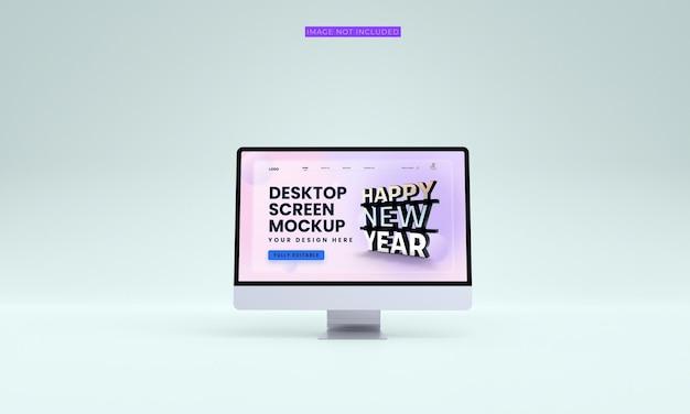 Maqueta de pantalla de escritorio premium psd