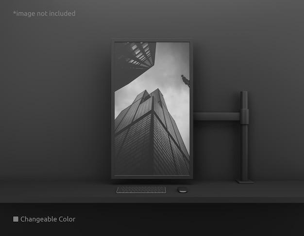Maqueta de pantalla de escritorio vertical