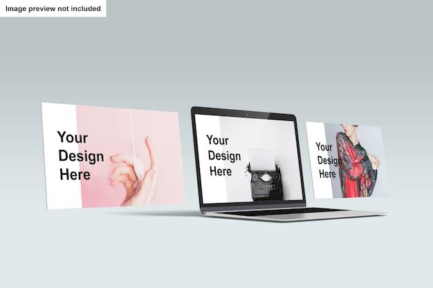 Maqueta de pantalla de laptop