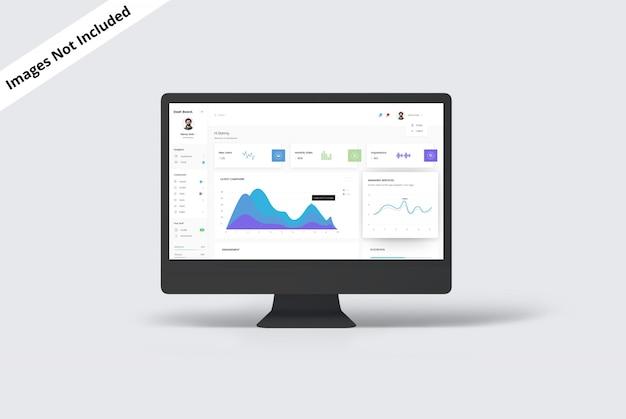 Maqueta de pantalla de monitor