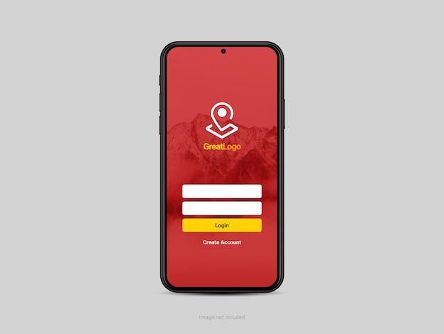 Maqueta de pantalla de smartphone aislada