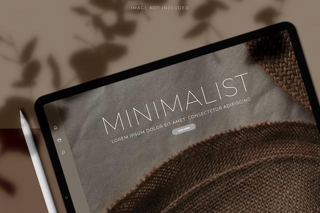 Maqueta de pantalla de tableta digital