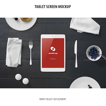 Maqueta de pantalla de tableta