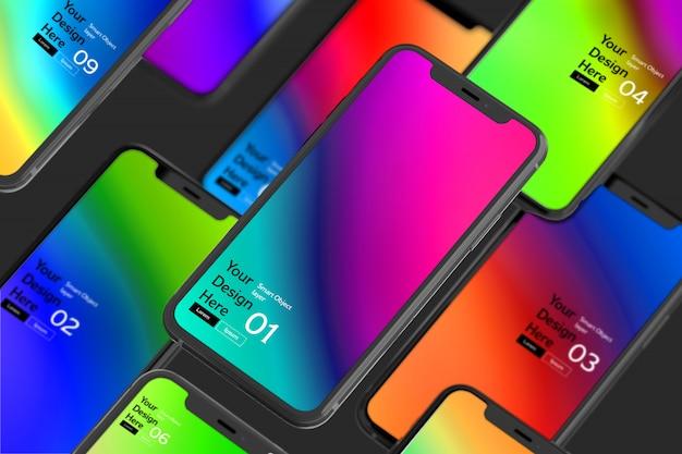 Maqueta de la pantalla del teléfono inteligente