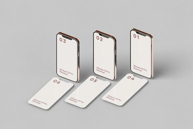 Maqueta de pantalla de teléfono inteligente