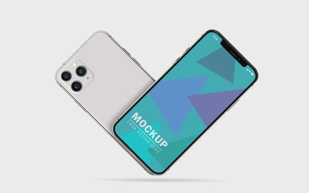 Maqueta de pantalla de teléfono móvil premium
