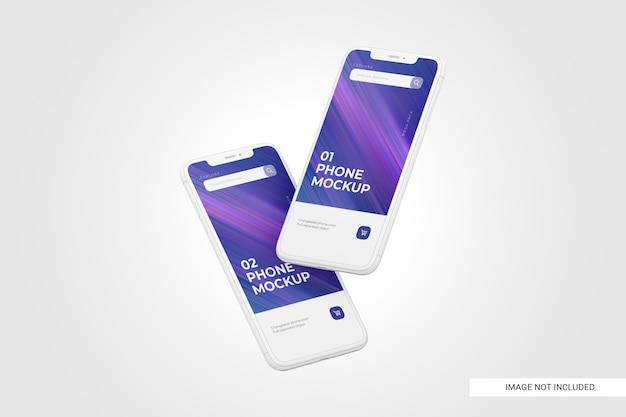 Maqueta de pantalla de teléfono móvil