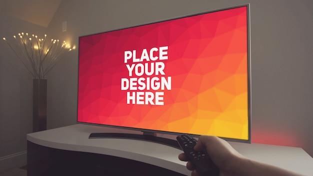 Maqueta de pantalla de televisión