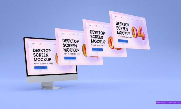 Maqueta de pantallas de escritorio psd