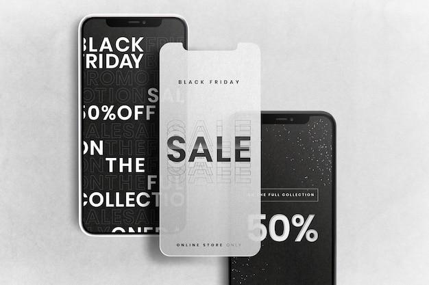 Maqueta de pantallas de teléfonos móviles