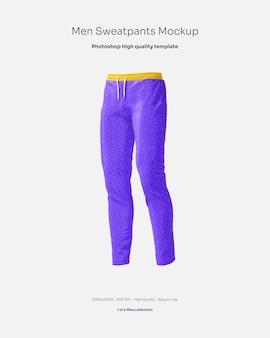 Maqueta de pantalones de chándal de hombre