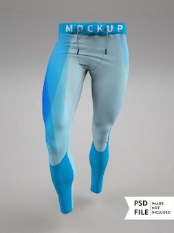 Maqueta de pantalones de entrenamiento