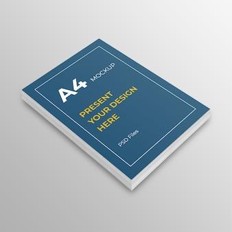 Maqueta de papel a4. cubierta de libro a4, folleto, maqueta de folleto