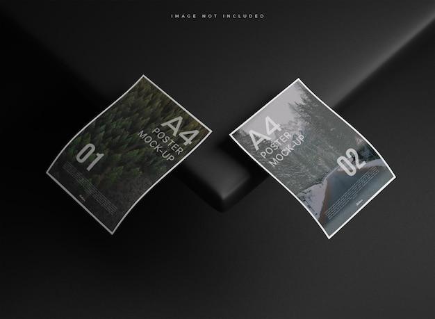 Maqueta de papel a4 realista