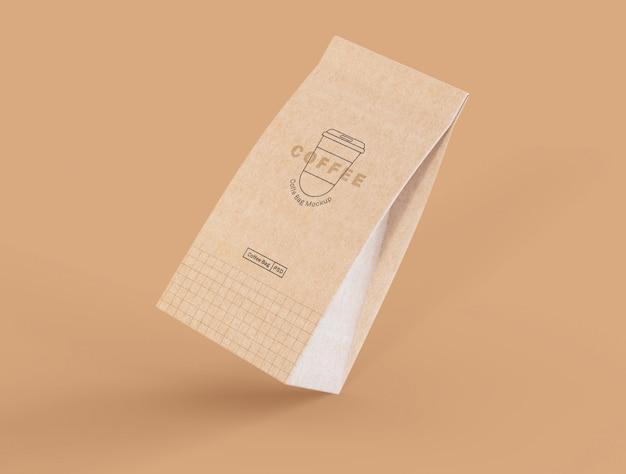 Maqueta de papel de bolsa de café