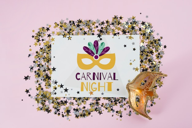 Maqueta de papel para carnaval