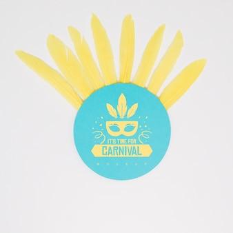 Maqueta de papel redondo con concepto de carnaval